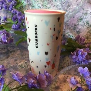 Rare Starbucks Valentines Day Glass Tumbler